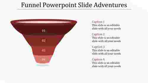 Simple funnel powerpoint slide