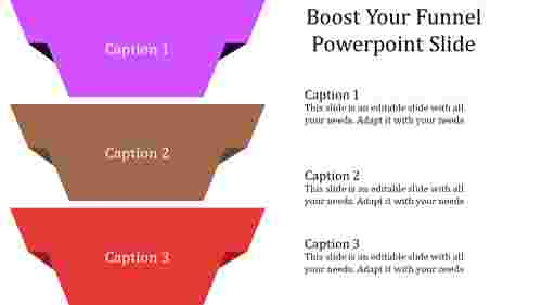 funnel powerpoint slide - vertical model