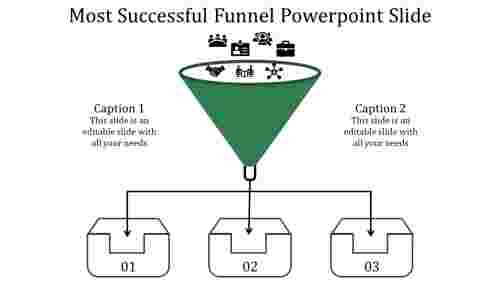 Funnel powerpoint slide - business strategy model