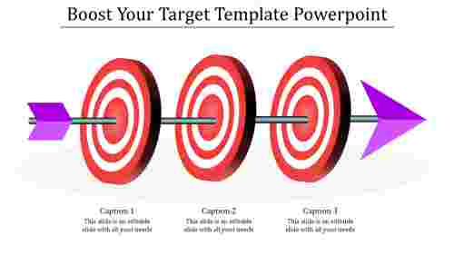 Target template powerpoint - Horizontal