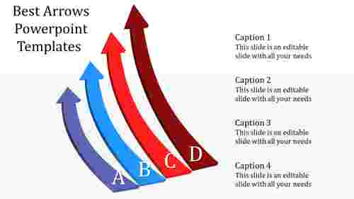Sliding arrows powerpoint templates