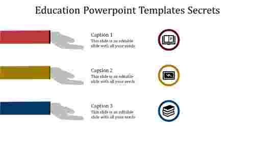 A three noded education powerpoint templates