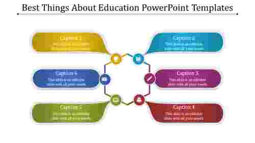 A six noded education powerpoint templates
