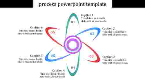 A six noded process powerpoint template