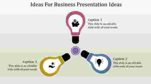 A three noded business presentation ideas