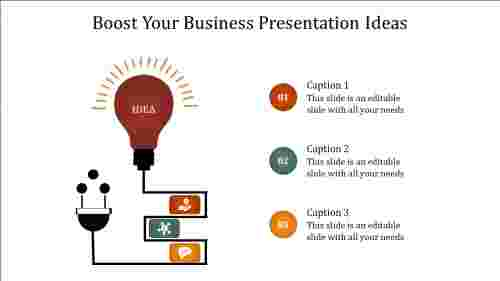 A one noded business presentation ideas