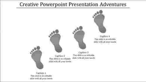 A four noded creative powerpoint presentation