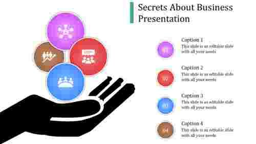 A four noded business presentation ideas
