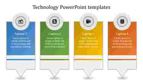 A four noded technology powerpoint templates