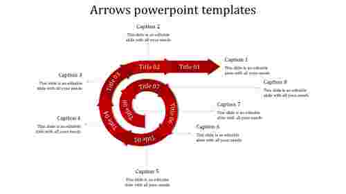 arrows powerpoint templates-arrows powerpoint templates-red