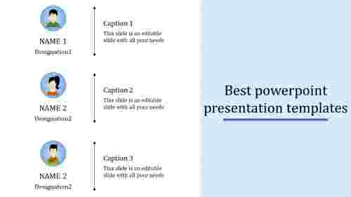 A three noded Best powerpoint presentation templates