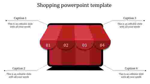 Afournodedshoppingpowerpointtemplate