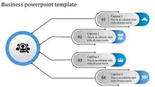 A four noded business powerpoint template