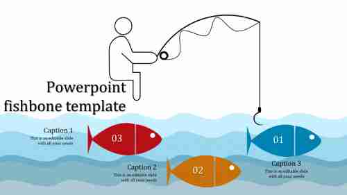 A three noded powerpoint fishbone template