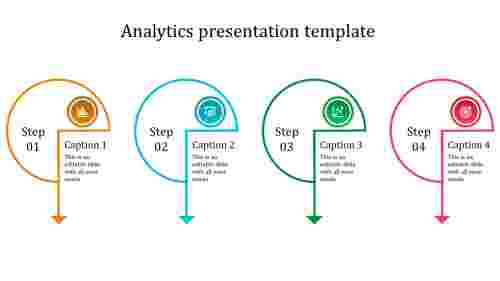analytics presentation template-multicolor