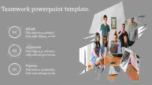 Verticle Teamwork powerpoint template