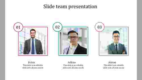 Slide team presentation portfolio