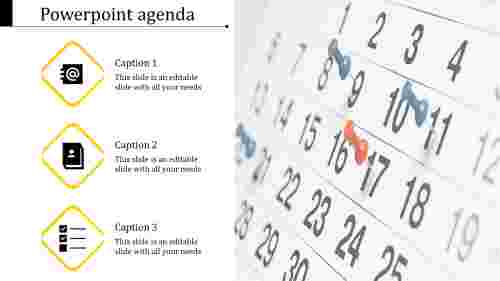 Incredible business agenda powerpoint design