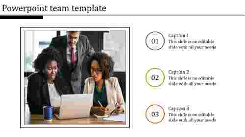 Powerpoint team template design