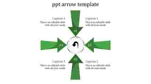 Arrows powerpoint templates in Four Direction
