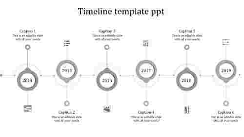 Graphical timeline template PPT for business