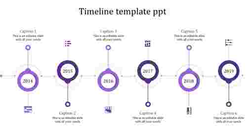 Quality timeline template ppt for business