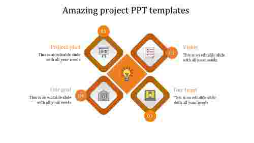 project ppt templates-Amazing project PPT templates-4-orange