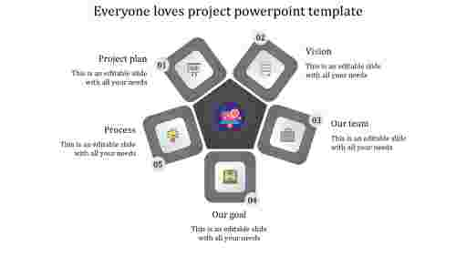 project presentation template-Everyone loves project powerpoint template-grey