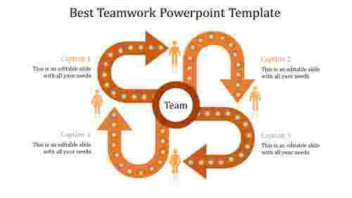 teamwork powerpoint template-Best Teamwork Powerpoint Template-Orange