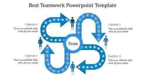 teamwork powerpoint template-Best Teamwork Powerpoint Template-blue