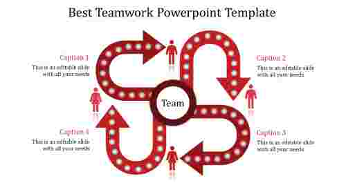 teamwork powerpoint template-Best Teamwork Powerpoint Template-red