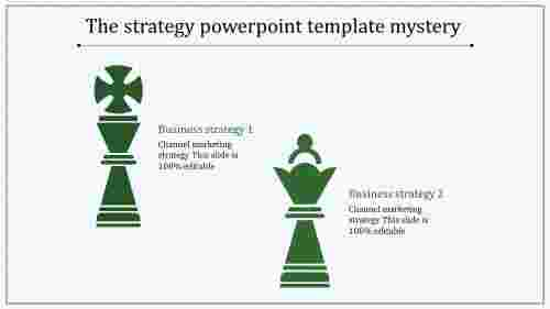 strategy powerpoint template-blue