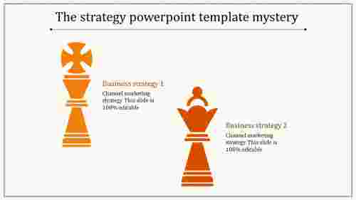 strategy powerpoint template-orange