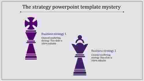 strategy powerpoint template-purple