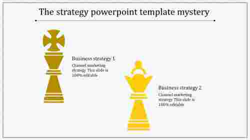 strategy powerpoint template-yellow