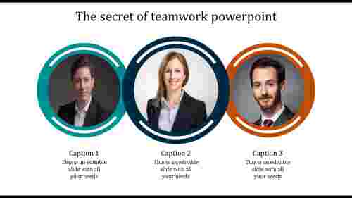 A three noded teamwork powerpoint