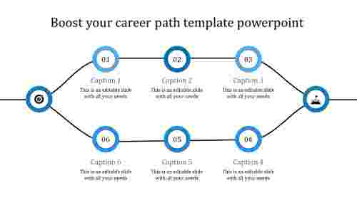 career path template powerpoint-blue