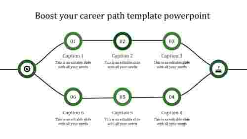 career path template powerpoint-green