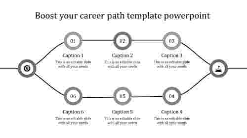 career path template powerpoint-grey