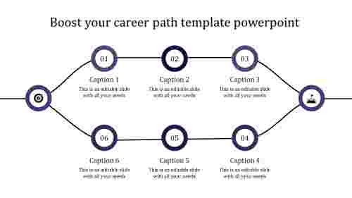 career path template powerpoint-purple