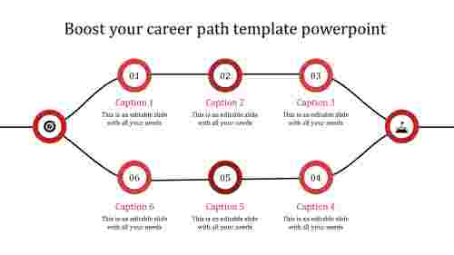 career path template powerpoint-red