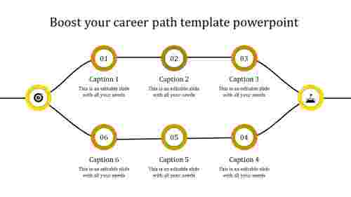 career path template powerpoint-yellow