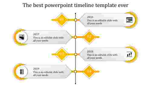 powerpoint timeline template-yellow