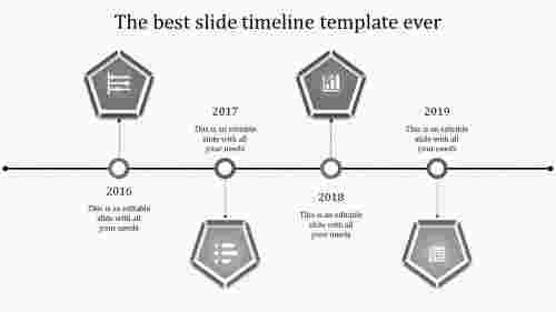 powerpoint with timeline-4-grey