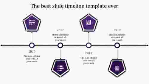 powerpoint with timeline-4-purple