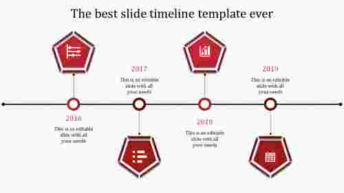 powerpoint with timeline-4-red