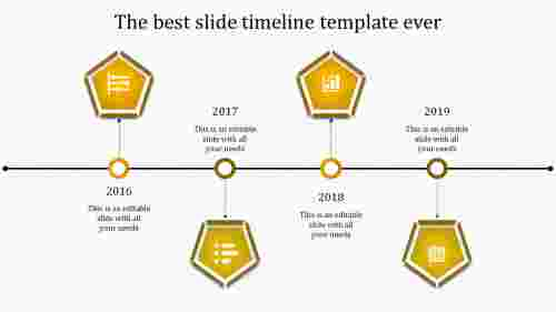 powerpoint with timeline-4-yellow