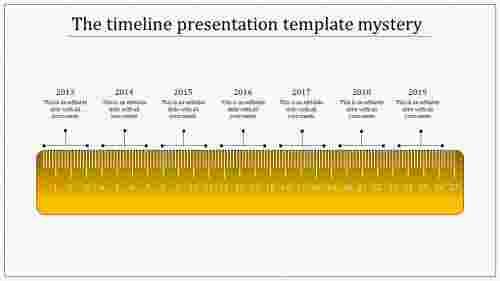 timeline presentation template - scale model