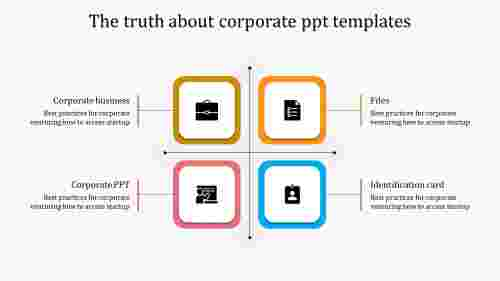 A four noded corporate PPT templates