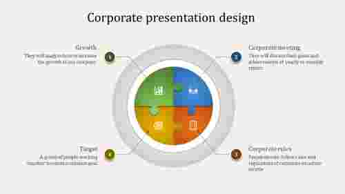 A four noded corporate presentation design
